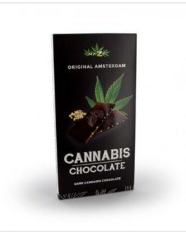 Chocolat noir fourré aux graines de chanvre