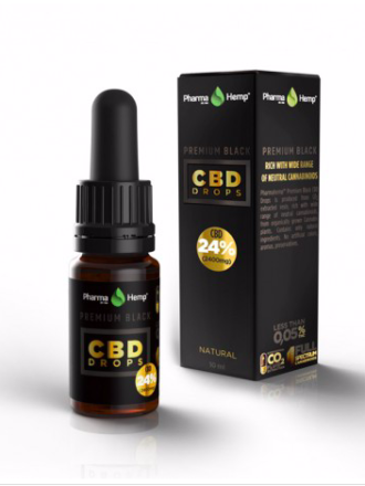 Huile de CBD Premium Black 24 % à base d'huile d'olive