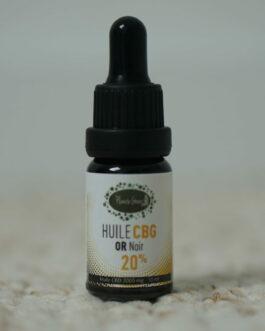 """HUILE DE CBG 20% PLANÈTE GREEN """"OR NOIR"""""""